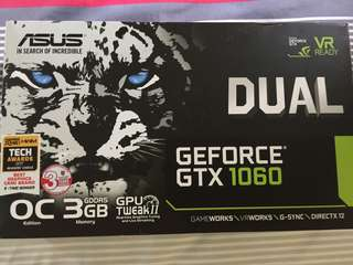 Asus GeForce GTX 1060 3GB GDDR5 OC Edition