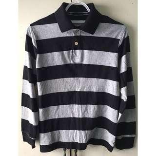 Est 1989 Boys' Stripes Long Sleeves Polo Shirt (Size M)