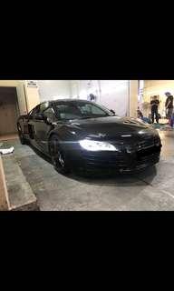 Audi R8 wedding car rental