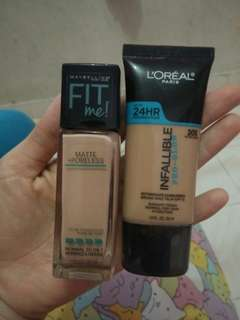 Foundation maybeline n l'oreal
