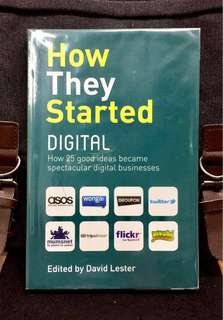 # Highly Recommended《New Book Condition + How Do You Turn An Idea Into A Successful Digital Business》David Lester - HOW THEY STARTED DIGITAL : How 25 Good Ideas Became Spectacular Digital Businesses