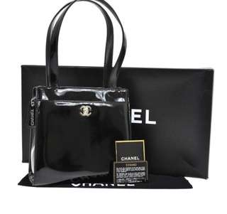 Chanel 漆皮手袋 (有盒有卡有貼)