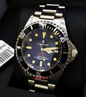BNIB New Steinhart Ocean One Vintage Red 42mm Auto Full Set