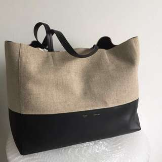 Authentic Celine Horizontal Bi Cabas Tote Bag