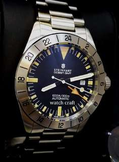 BNIB New Steinhart Ocean Vintage GMT Auto 42mm Full Set