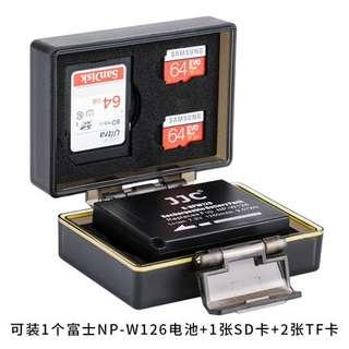 🚚 【Q夫妻】 JJC 防水 防塵 堅固 電池盒 SD/TF卡盒 NP-W126 專用 HS30EXR HS33EXR X-E1 X-Pro1 #D3-5