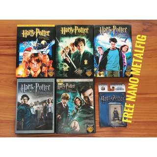 [Set] Harry Potter Films / Movies DVD 1, 2, 3, 4, 5 with Freebie