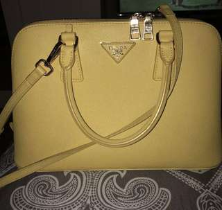 Yellow Prada Crossbody Bag