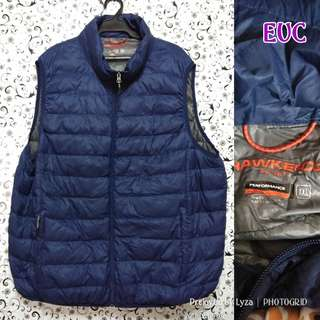 Blue winter sleeveless jacjet