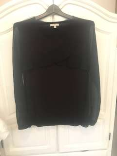Gap black blouse size small