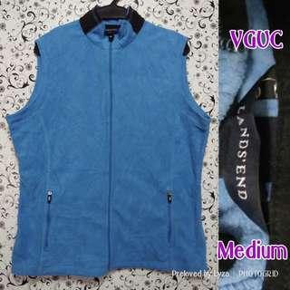 Skyblue sleeveless fleece jacket