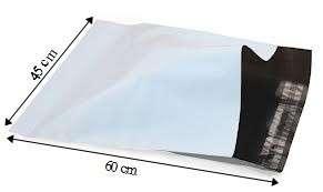 50 PCS COURIER BAG 45*60CM WHITE ( 10-178-04 )