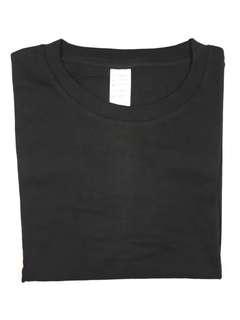 Kaos polos lembut hitam