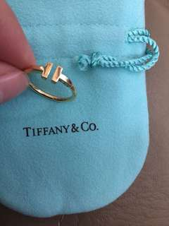 Authentic Tiffany & co T wire ring