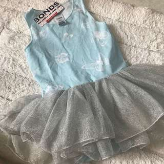 🚚 BN Bonds Baby Girl Butterfly Pastel Blue Tutu Snap Dress 18-24mths!