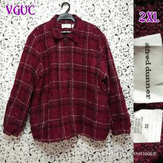 Red Checkered polo / jacket