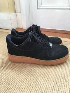 Nike Air Force 1 black suede EU 38