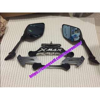 Xmax 300 2 in 1 Mirrors Relocator Bracket (Sport) Origin From Taiwan