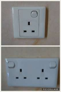 Single to Double socket adapter