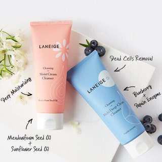 🚚 Laneige Cleanser ( Moist Cream & Multi Deep Clean)