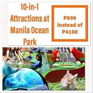 10-in-1 ATTRACTIONS MANILA OCEAN PARK