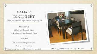 Dining table Set - 8 Sets