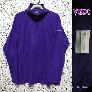 Violet pullover fleece jacket