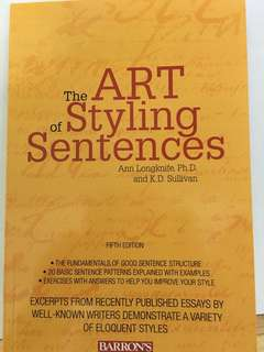 The Art of Styling Sentences - NEW