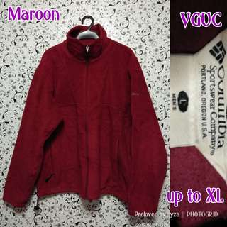 Dark Red fleece bomber jacjet