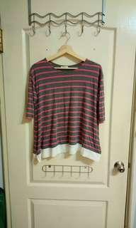 🚚 Net條紋短袖上衣