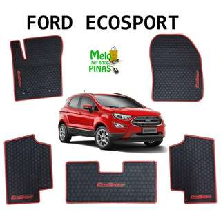 Ford Ecosport Premium Rubber Matting (Red Lining)