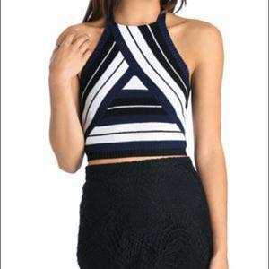 Bardot Knit Halter Top