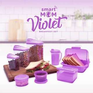 Smart Mom Violet Breakfast Set