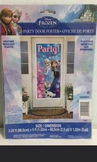 Frozen Princess Party Door Poster