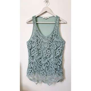 "Repriced""F21 lacey top"