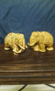 Set Of 2 porcelain elephants
