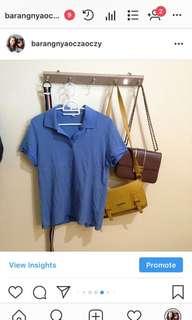 [NO NEGO] uniqlo blue polo shirt