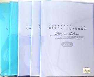 5x 24 Clear Pockets Books