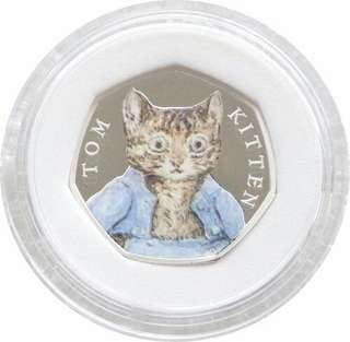 2017 Tom Kitten 50p Fifty Pence Silver Proof Coin Box Coa