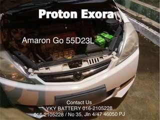 Kereta Bateri , Proton Exora , Amaron Go 55D23L
