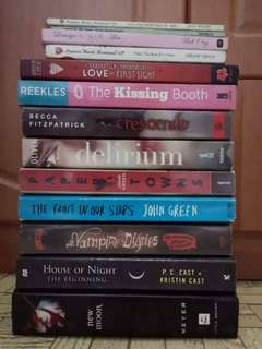 Pre-loved books for sale (SET)