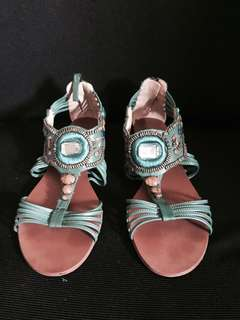 Nine West Green Sandals