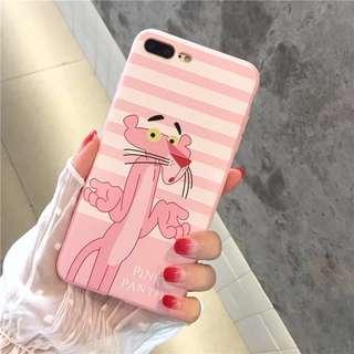 iPhone Case 傻豹 粉紅豹 手機殻 電話套 軟殻包四邊