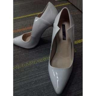 Ash Grey Pointed Heels by Lost Ink