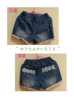 🚚 女童牛仔短褲