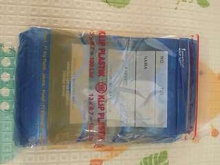 klip plastik obat (clipper bag)