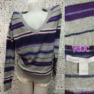 Violet striped knitted sweater