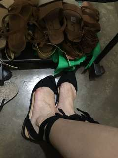 F21 lace up shoes