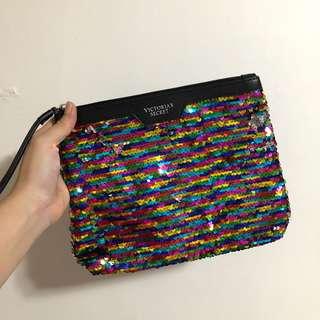 Victoria's secret flip sequined pouch