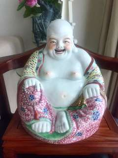 Vintage (New) Porcelain Matrieya Buddha